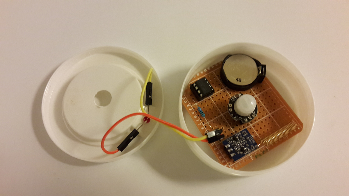 Attiny85 Pir Sensor Borngeek Interfacing With Arduino Assembeled And Working Unit Click To Enlarge